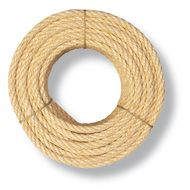 CUERDA SISAL FIBRA NATURAL 6MM VENTA POR 1M 4 CABOS NATURAL